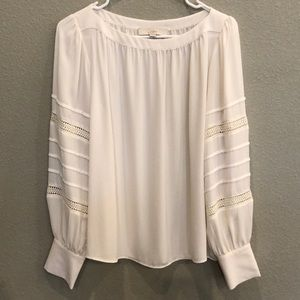 Cream Blouse with Sleeve Detail